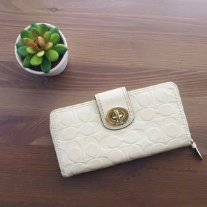 Leather Coach full length wallet